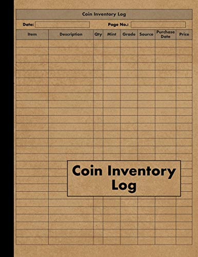 Coin Inventory Log: Collectors Coin Log Book for Cataloging Collections - 120 Pages - Coin Collection Notebook (Tiger-medaille)