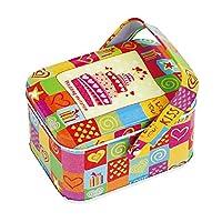 Baoblaze Boîte de Rangement Avec Poignée Pour Thé Bonbons Café Norriture Biscuits Canister Boxes