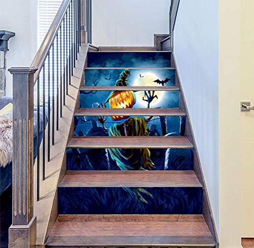 DFGTHRTHRT 3D Simulation Treppenaufkleber entfernbare Wasserdichte Wandaufkleber Schlafzimmer Wohnzimmer DIY Tapete Wandabziehbilder (Color : WLT004, Size : OneSize)
