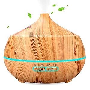 Aroma Diffuser, INSMART 400ml Luftbefeuchter Ultraschall Duftlampe, Ultra Leise BPA-Free Öl Diffuser mit 7 Farben LED für Baby, Schlafzimmer, Raum, Büro,Yoga, Salon, Spa