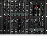 Behringer Pro Mixer DX2000USB 7-Kanal DJ Mixer mit optischem Infinium Crossfader und integriertem USB