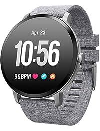 Milnnare Smart Armband Uhr Fitness V11 Blutdruck Herzfrequenz Schlaf Monitor Watch - Silber