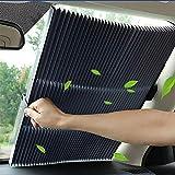 HXA Teleskopisch Autosonnenschutz Auto - Auto Sonnenschutz Frontscheibe Faltbare Kühler Sommer Car Sun Shade für SUV PKW KFZ Truck Silber 80 x 200 cm