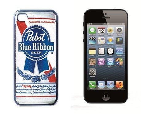 pabst-ruban-bleu-logo-idee-cadeau-cool-coque-rigide-avec-protecteur-decran-pour-iphone-5-noir