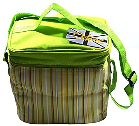 Octave® Sac isotherme Collection différents Styles, couleurs et tailles One Size [Personal] Approx: 20cm x 19cm x 15cm Striped Design - Green