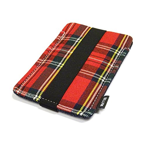 Blum - Denim Jeanshülle für Smartphones - Größe M - Schlaufe karo-rot.