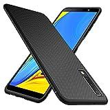 iBetter Coque Samsung Galaxy A7 2018, étui en Silicone Ultra Mince, Durable TPU, pour Samsung Galaxy A7 2018 Smartphone(Noir)