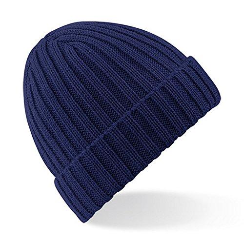 Beechfield - Bonnet épais - Homme (Taille unique) (Bleu marine Oxford)