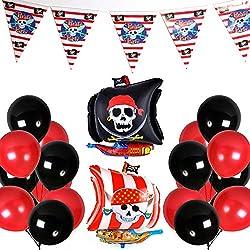 Globos de piratas para fiesta, 43 ud.