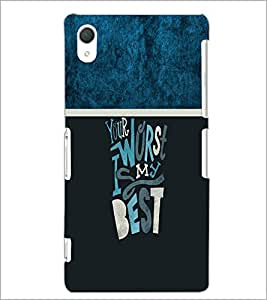 PrintDhaba Quote D-4253 Back Case Cover for SONY XPERIA Z2 (Multi-Coloured)