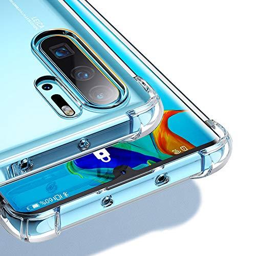 Beetop HMBS038HW017 Kompatibel Mit Huawei P30 Pro Hülle [Verdickung an 4 Ecke] Schutzhülle Ultradünn Handyhülle Durchsichtig Weiche Silikon TPU Case Cover - Durchsichtig (JH)