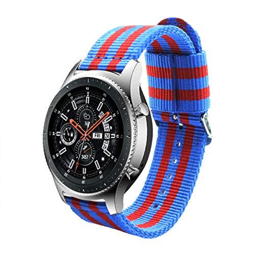 Estuyoya - Bracciale in Nylon Compatibile con Samsung Gear S3 Frontier/Classic/Galaxy Watch 46mm Colori di Barcelona, Larghezza 22...