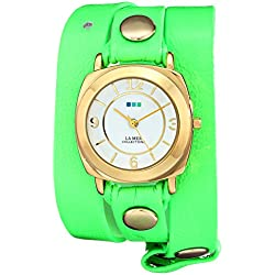 La Mer Collections Damen LAMERNEON_4GOLDODYSSEY Neon Green/Gold Odyssey Armbanduhr