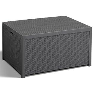 Keter 218865 Allibert Arica Outdoor Storage Box-Graphite, Black, 78x58x10 cm