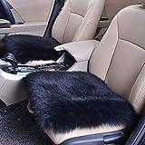 SICL-F Laine Coussin d'assise, Coussin carré de Voiture de Luxe en Fourrure couvertures de Chaise, Home Office Tapis de Sol, 45,7x 45,7cm 18X18inch Noir