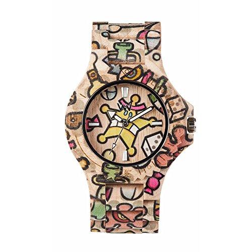 WEWOOD Reloj Analógico para Mujer de Cuarzo con Correa en Madera WW52001