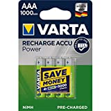 Varta Power Akku HR03 LR03 Micro AAA NiMH 4er Blister 1000mAh, 1,2V, 1000mAh/1,2Wh, NiMH Der neue Varta Micro/AAA NiMH der Accu rechargeable Serie mit Ready 2 Use TechnologieProduktbeschreibung- 4er Pack- sofort einsatzbereit & vorgeladen- hohe K...
