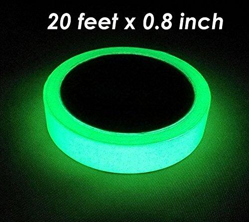 Luminoso Adhesivo 0,8pulgadas x 30pies Longitud anchura extraíble impermeable photoluminescent brilla en...