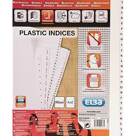 Elba Digital Repertoire 26 divisori indicizzato formato grande, 19/100e per tasche in PVC