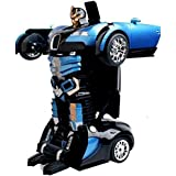 PLAY DESIGN Transform Robot Races Car 2 In 1 Bright Lights And Music Battery Operated Toy ( MULTI COLOR)