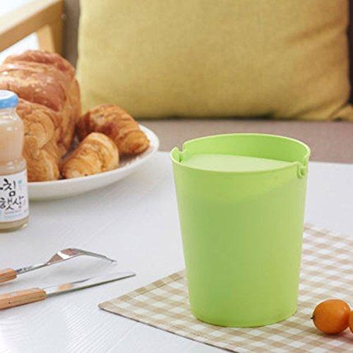 Nette kreative Schlag-Abdeckungs-Schreibtisch-Abfall-Büro-Minifaß-Schreibtisch-kleine Abfalleimer ( Farbe : Grün ) (Nette Schreibtisch-abdeckung)