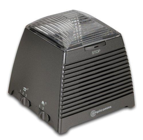 amplicomms Ringflash 250, Telefonanruf- und Türklingelverstärker mit hellem Blitz und lautem Ton