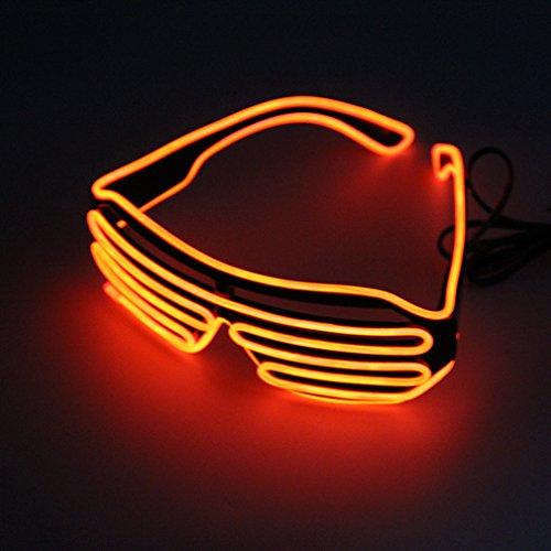 Einfach zu tragen Reiten LED-Brille leuchten Shades Flashing Rave für Hochzeitsfeier Indoor Outdoor Night Shows Aktivitäten