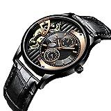 Lnyy Casual Herren-Uhren 30 Meter wasserdichte Uhr Mechanisches Uhrengeschäft