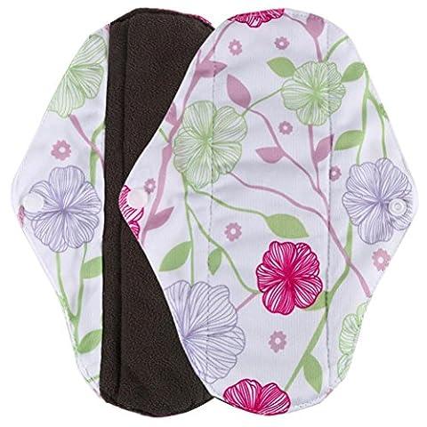 Longra® Beautiful One Side Flower Print ! ! Reusable Bamboo