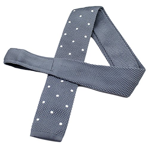 Zhhlinyuan Corbata Hombre roja blanca Multicolores Moda Clasica Knit Ties Narrow Necktie Flat Bottom Tie for Men for Husband - Multi Patterned Elastic Anti-Wrinkle