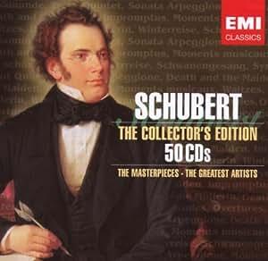 Les Chefs d'Oeuvres de Schubert - Coffret 50 CD + liste des oeuvres proposées.