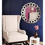"Venetian Design Modern Round Wall Mirror Diameter 32"""