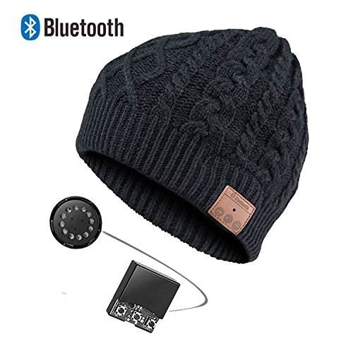 ULTRICS® Stereo Bluetooth 4.1 Headphones Smart Hat, Latest Wireless Musical Knit Beanie Speaker Headset Microphone Hands free to receive calls & music control for all smartphone and smart devices.