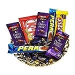 Chocolate Gift Basket Hamper   Gift for Rakhi, Diwali, Anniversary, Birthday, Christmas, Valentine, Her, Him   Assorted...