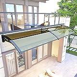 Lw Canopies Porta d'ingresso Porta Tenda Canopy, Staffa in Lega di policarbonato PC Tenda della Pioggia Shelter Alluminio (Size : 60×200cm)