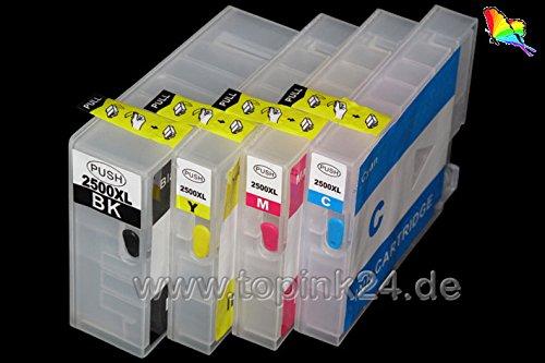 Nachfüllpatronen inkl. Autoresetchips ARC ohne für Pigment oder DYE Tinte kompatibel zu...
