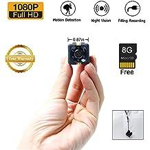 1080P Mini CAM Surveillance Cámara LXMIMI Portable HD Nanny Web CAM con Visión Nocturna y Detección