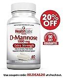 Health Labs Nutra D-Mannose 1000 mg – Fördern Sie eine gesunde Blase & Harnweg (30-Tage-Vorrat)