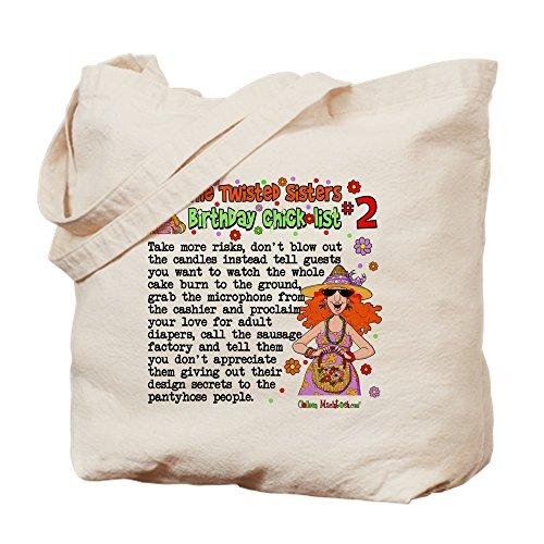 CafePress–Twisted Sister chicklist # 2–Leinwand Natur Tasche, Reinigungstuch Einkaufstasche Tote S khaki (Stoff Polka Handtaschen Dot)