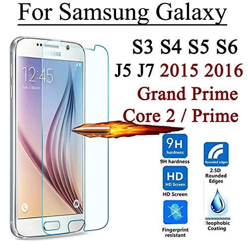 Ausgeglichenes Glas-Schirm-Schutz, 2.5D 9H Screen Protector Tempered Glass for Galaxy Grand Prime Core 2 S3 S4 S5 S6 J5 J5008 J7 J7008 J1 Mini for J1 Mini 2016 (S Galaxy Iii-telefon-abdeckung Samsung)