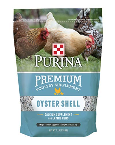 Oyster Shell Calcium (Purina High Calcium Oyster Shell Supplement Support Healthy Sturdy Eggs 5lbs)