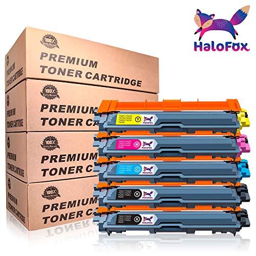 HaloFox 5 Cartuchos de tóner TN241 TN245 para Brother HL-3140CW HL-3142CW HL-3150CDW HL-3152CDW HL-3170CDW HL-3172CDW MFC-9130CW MFC-9140CDN MFC-9340CDW MFC-9330CDW DCP-9015CDW DCP-9020CDW