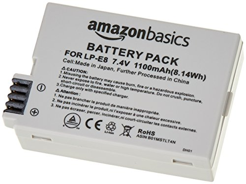 AmazonBasics Batterie Li-Ion pour appareils photo Canon (LP-E8)
