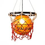 HJXDtech- Kreative Acryl Basketball und Nets Pendelleuchte Home Loft Deco-Decken-Lampe mit E27 Birne