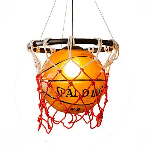 HJXDtech-Kreative Acrylic Basketball und Netze Pendelleuchte Home Loft Deco Deckenleuchte Jugend- / Kinderzimmer Club Bar Hängelampe