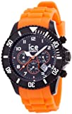 Geschenkidee Uhren - Ice-Watch Unisex-Armbanduhr Big Ice-Chrono Collection Schwarz sili orange CH.BO.B.S.10