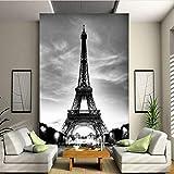 Hwhz Custom 3D Photo Wallpaper European Classic Architecture Torre Eiffel Mural De La Sala De Estar Entrada Contexto Decoración Wallpaper-200X140Cm