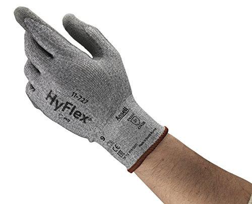 Preisvergleich Produktbild Ansell HyFlex 11-727 Schnittschutz-Handschuhe, Mechanikschutz, Grau, Größe 10 (12 Paar pro Beutel)