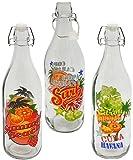 3 Stück _ Glasflaschen mit Bügelverschluss -