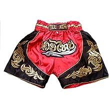 Thai Niños Amazon Pantalones es Negro Muay xntqnAOYw8